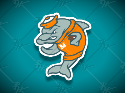 VintageNFLDolphins + dolphin miami nfl high school classic vintage college logo ncaa football mascot athletics sports