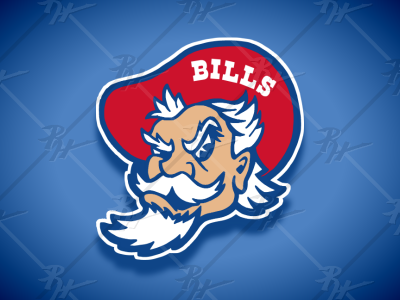 Vintage Style Buffalo Bills BILL Mascot