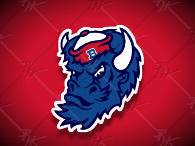 Vintage Style Buffalo Bills BUFFALO Mascot