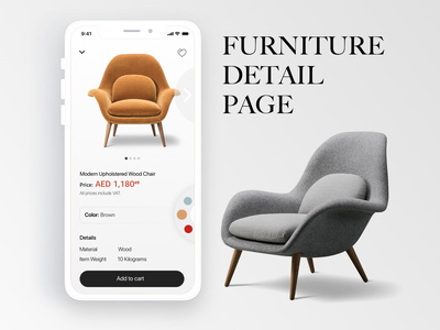 Furniture Detail Page furniture app detail page ecommerce