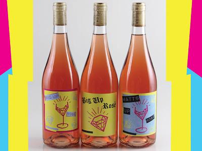Watts Up Rose Bottles label design bottle rose wine label wine label design wine