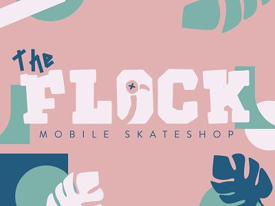 The Flock Skateshop flamingo flock skate skate shop skateboarding