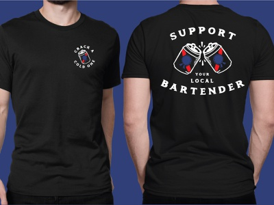 PBR Support Your Local Bartender T-Shirt beer beer can tshirt t-shirt design support local artists pbart pbr pabst pabst blue ribbon