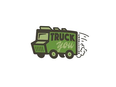 TruckYou logo foodie togo delivery truck delivery app foodtruck restuarant food food trucks branding logo food truck