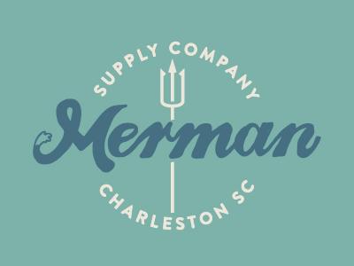 Merman Script Crest