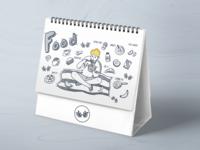 Doodle style calendar
