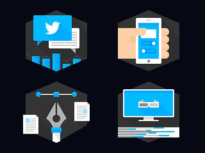 Service Icons Vol. 1 icon icon set flat service agency
