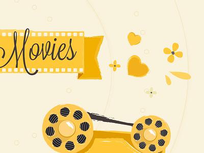 Sweet Movies Header movies cinema retro handwriting heart