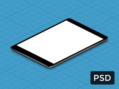 iPad Mini True Isometric PSD free isometric psd ipad mini