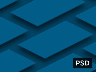 True Isometric Smartphone Screens PSD