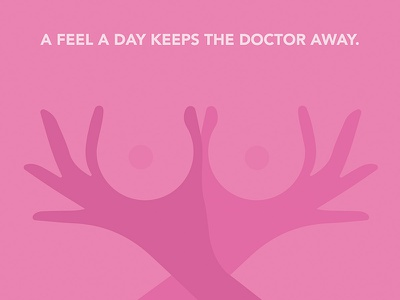 A Feel a Day Keeps the Doctor Away illustration vector health doctor save the boobies cancer pink breast cancer