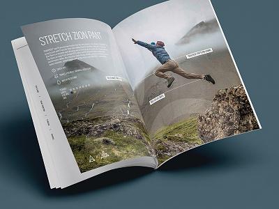 TRAVERSE // Catalog Spread typography layout catalog