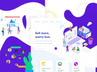 Landing Page of a Sales Marketing Company