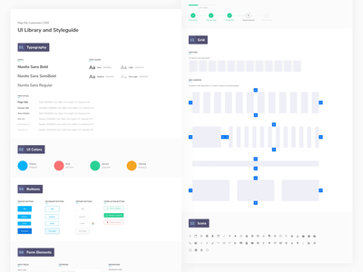 UI Styleguide for Map My Customers Apollo component library library grid uiux shot font icon set iconography icons typography color design language dls ux design uidesign design components kit ui styleguide
