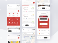 Airports App transport car parking shopping hotels flight booking booking ticket flight airport login cards simple profile design mobile ios card app ui clean