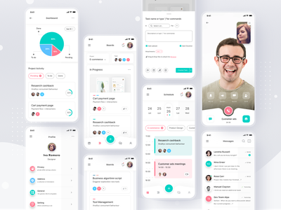 Work Management App task management trello calendar schedule meeting work plan mobil login cards simple profile design mobile ios ui card app clean