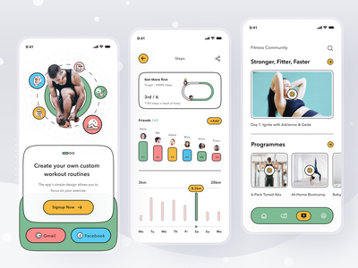 Health Monitoring App graphic design mobile monitoring health profile ios app ui design clean card