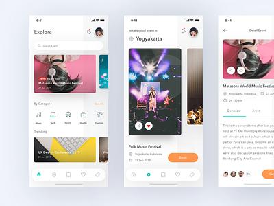 Event App design app music simple clean uiux conference card ios eventbrite design app event