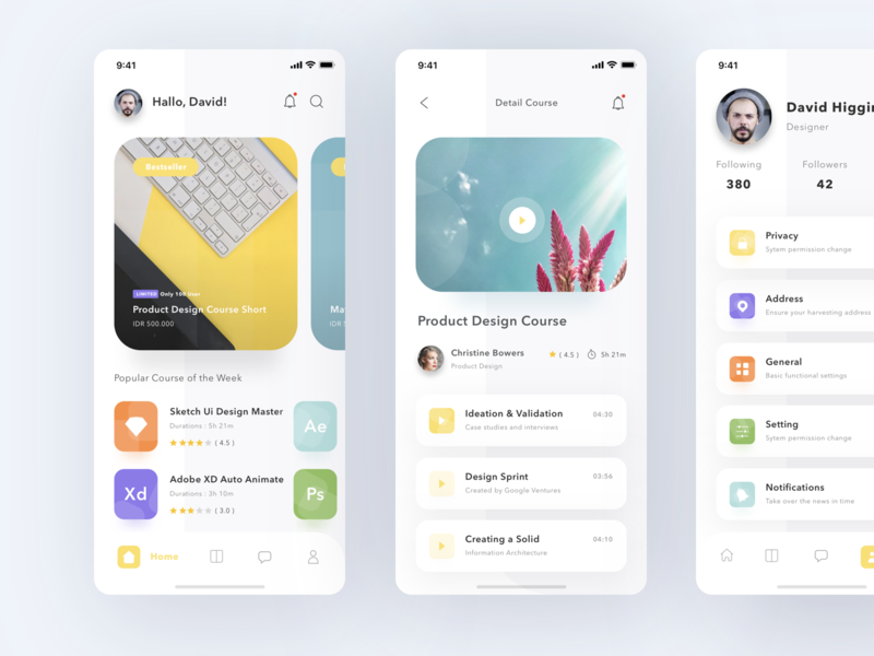 Online Course App by Sulton hand for Pixelz on Dribbble