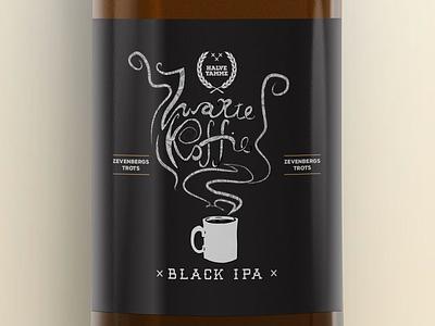 Halve Tamme - Zwarte Koffie (Black Coffee) beer label