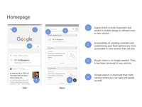 Google Now Redesigned - Homepage