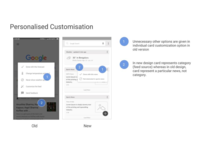 Google Now Redesigned - Personalized Customization