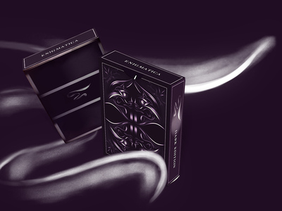 | E N I G M A T I C A | Playing Cards magic mystery dark logotype identity brand illustration graphic tablet animation enigma playing cards