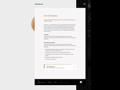 Continuum Ventures Website tt norms dark gold website grand rapids