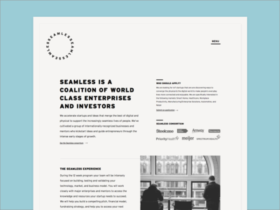Seamless Accelerator Homepage