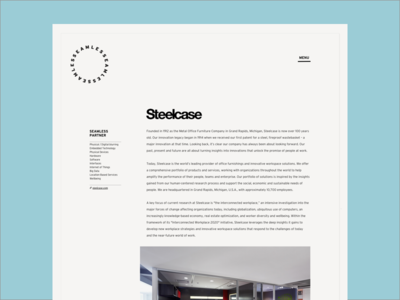 Seamless Partner Page grid website minimal off white