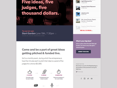 5x5 Night startup red grand rapids gibson 5x5
