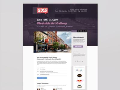 5x5: Next Night 5x5 red startup purple gibson grand rapids