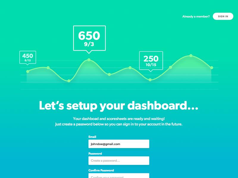 Dashboard Onboarding gibson grand rapids stats data app game dashboard