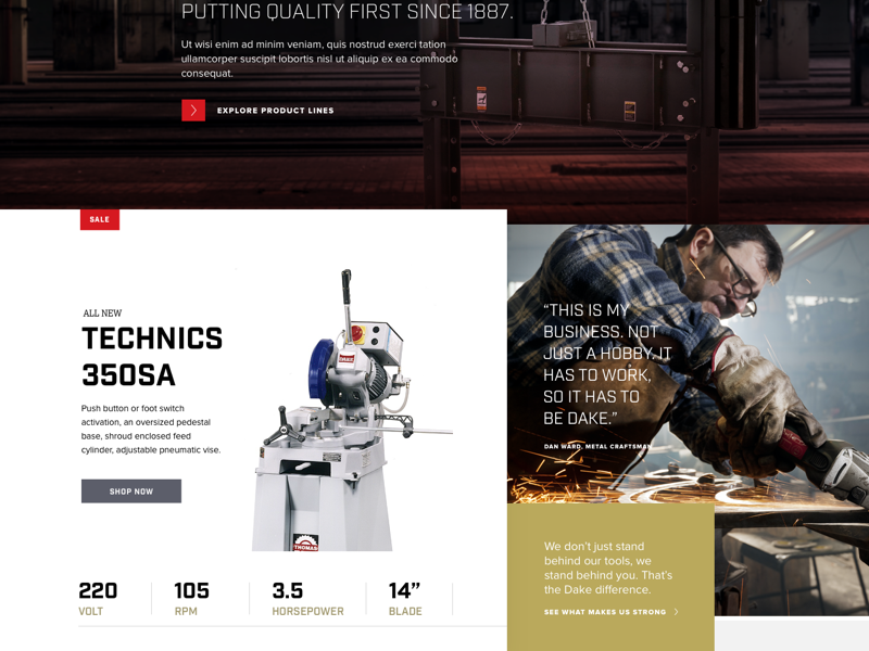 Dake Machine Tools homepage midwest grand rapids industry made in the usa tools industrial