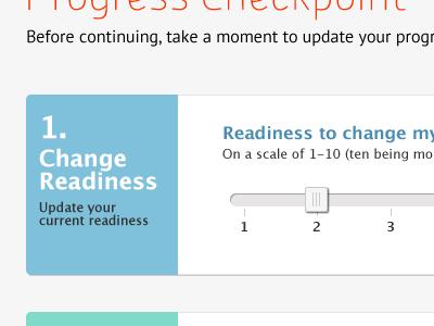 Progress Checkpoint progress slider ui