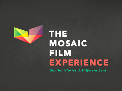 Mosaic Identity: Mark mosaic identity logo film festival