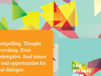 Mosaic Film: Sponsorship (front) mosaic film festival print