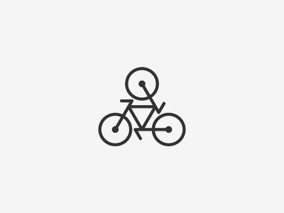 Bicycle logo bicycle bike sport cycling mark geometry