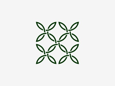 Leaves Knots flora sign logo leaves ornament geometry knots