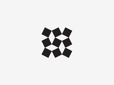 Pattern pavement square sign logo simple geometric pattern