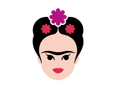 Frida vector illustration museum exhibition icon culture character design character illustration