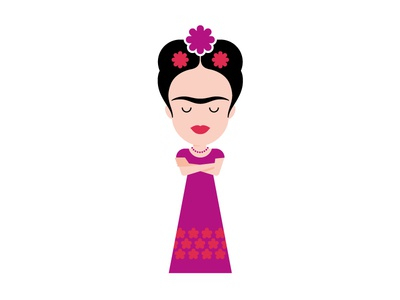 Frida 2 museum exhibition icon culture character design character illustration