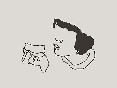 Filipa pan y cafe brand illustration outline foodillustration illustration