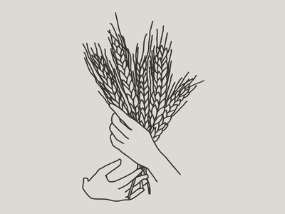 Filipa pan y cafe illustration