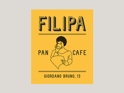 Filipa pan y cafe illustration food bread coffee cafe pan bakery brand