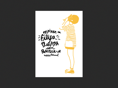 Filipa pan y cafe food poster illustration filipa bread bakery