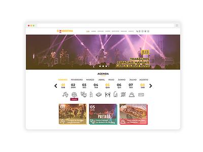 Clandestina curatorial cultural programming responsive brand cultural interface web ux design ux ui