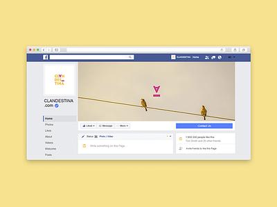 Clandestina Social Media social media culture web facebook brand