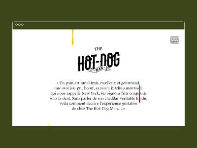 The hot-dog man hot-dog brandidentity webdesign lettrage lettering hotdog