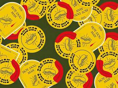 The hot-dog man stickers hotdogs brandidentity illustration logo design stickers hot-dog